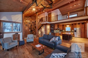 Emma Lake Timber Frame Log Home 6 | Streamline Design