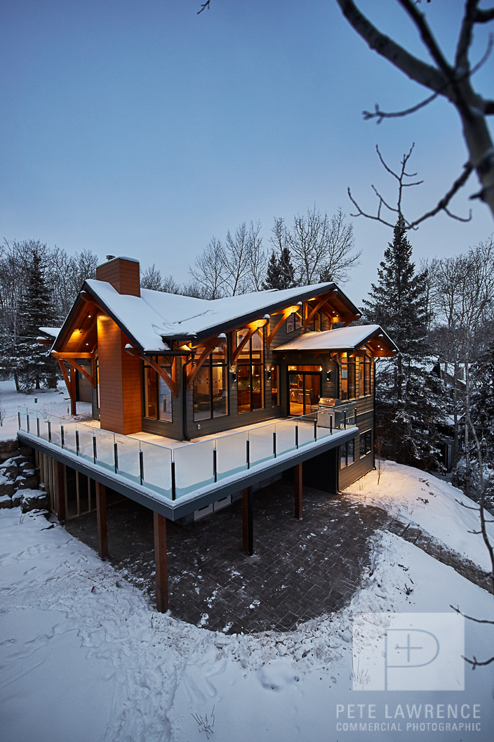 Emma Lake Timber Frame Log Home 8 | Streamline Design