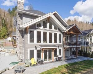 Straiton Timber Frame Design Backyard | Streamline Design Ltd
