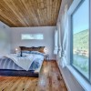 Master bedroom suite with a view