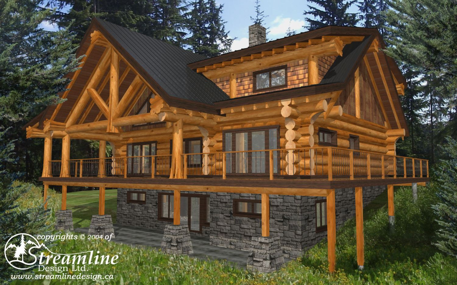 Spring 2018 Log and Timber Home Designs | Streamline Design on bouquet floral designs, modular designs, front porch with columns designs, cabin designs, log siding, view front house designs, cottage designs, log dream homes, stilt house designs, log countertop ideas, dutch designs, farmhouse designs, log modular homes, log art, log fence design, kitchen designs, log building, farm designs, log furniture, bungalow designs,