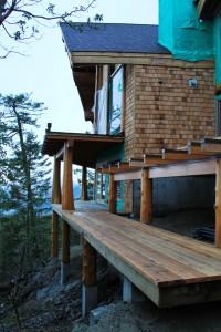 Timber Frame Home under construction