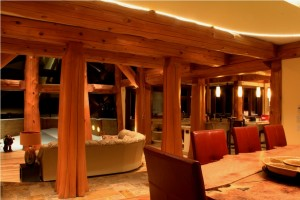 Western Red Cedars are the focus of this home