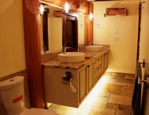 Beautiful Bathroom with under-mount lighting