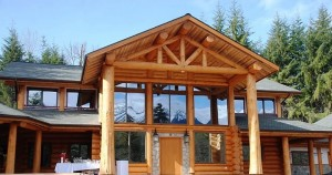 Timber Frame Home Nestled in the mountains
