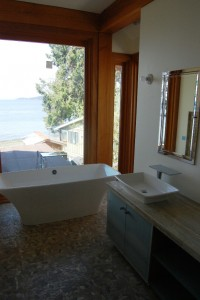Bathroom with soaker tub