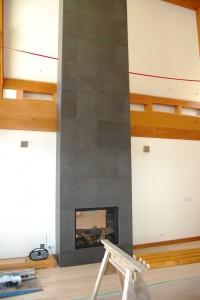 Slate fireplace