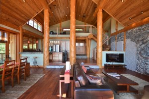 Beautiful grand room with vaulted ceilings