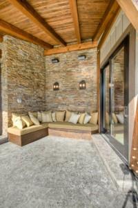 Custom outdoor seating