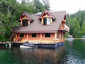 On the Lake Log Home