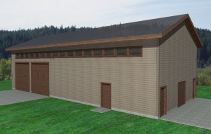 Large custom storage shed