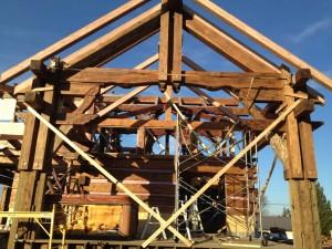 Toshi Custom Log Home Under Construction