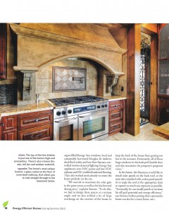 BEAUTIFUL Kitchen stove featured in a magazine