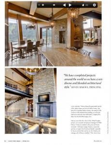 Stunning kitchen and living room as featured in a magazine