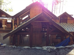Vancouver TImber Frame Home under construction