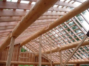 vaulted ceilings under construction