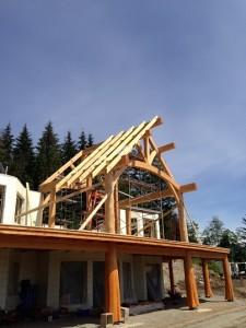 Timber Frame Homes under construction