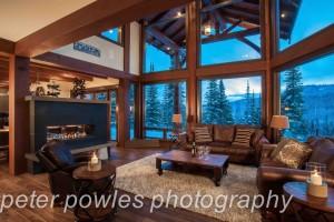 luxurious mountainside timber frame home
