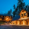 Beautiful Three Car Garage next to log home