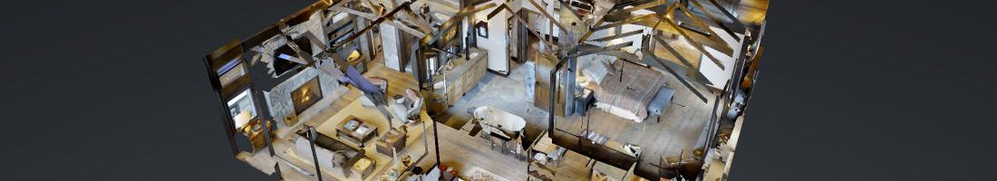 3d view of log home design