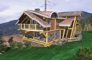 Custom log cabin homes