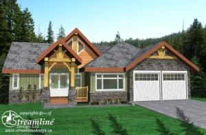 Timber frame Home Rendering