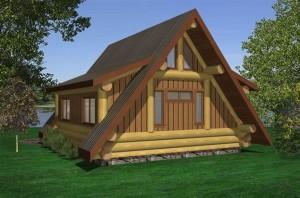 A Frame Log Cabin
