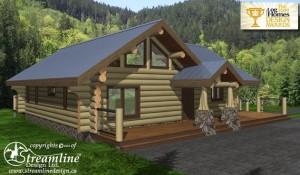 cascade log home designs