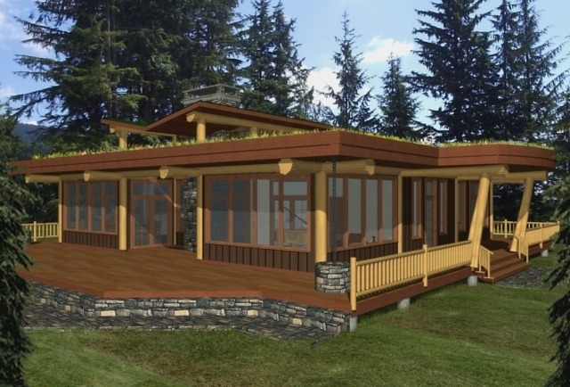 Simple log home designs house design plans for Simple log cabin plans