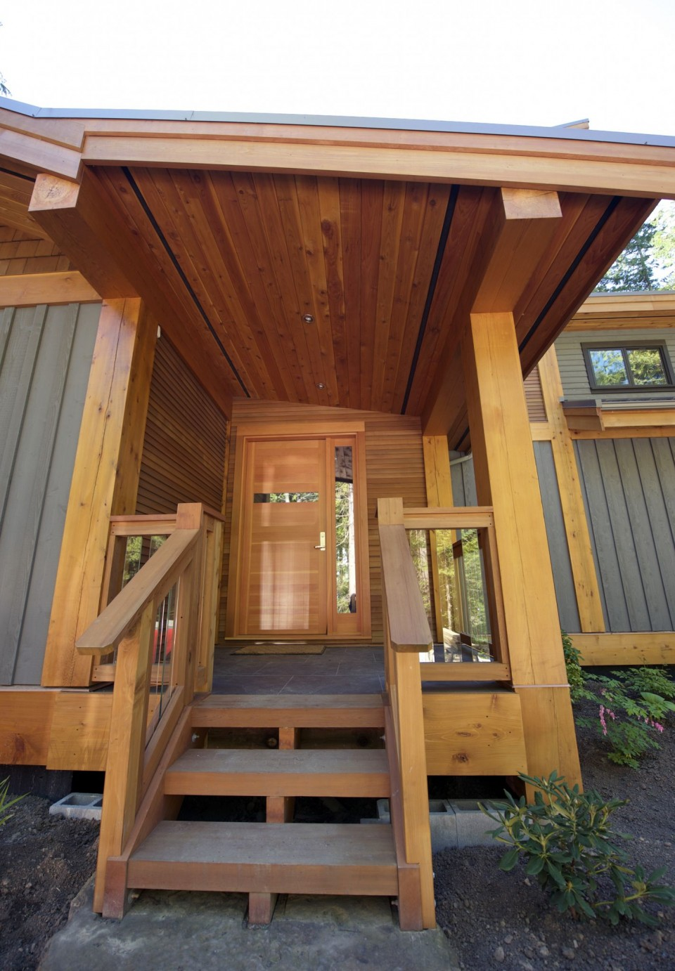 front-entrance-of-timber-frame-house