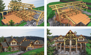 outside-view-of-log-home-plans-progress