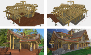 outside-view-of-log-home-plans-progress