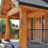 Timber Frame Home Entrance