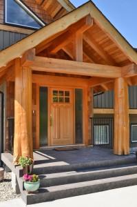 Timber Frame home lite up