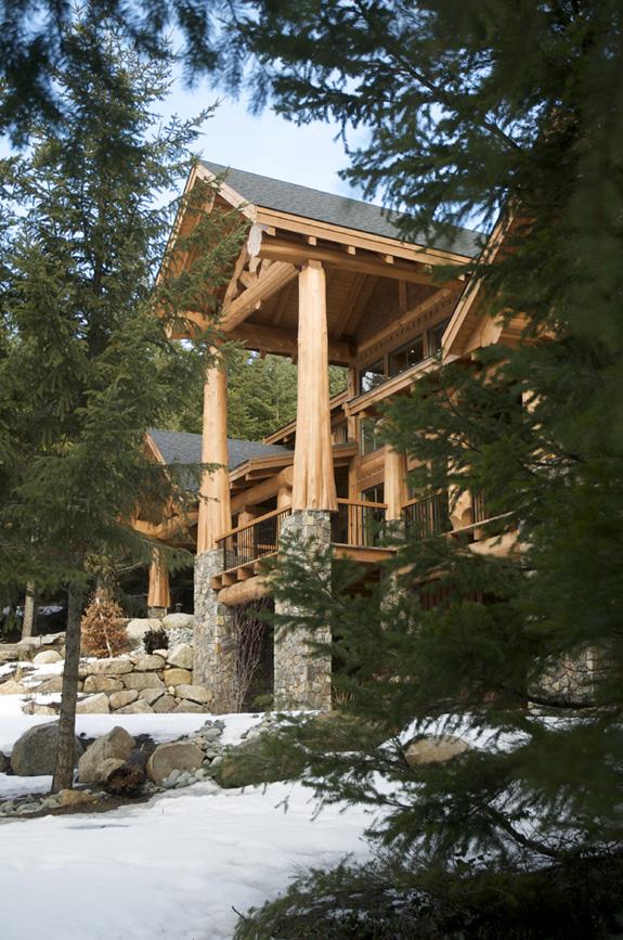 Sneak Peek of Log Home in Forest