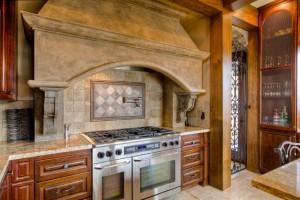Custom Kitchen in log home