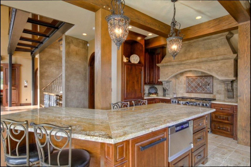 Custom Kitchen in timber frame home