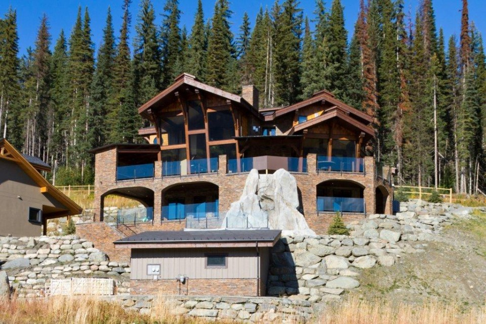Large luxury log home