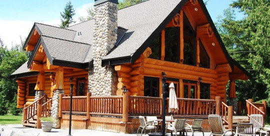 Stunning Timber Frame Log Home