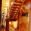 Log cabin stairwell