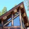 Log cabin windows