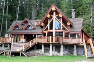timber frame home designed by Streamline