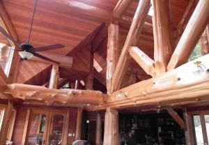 western red cedar beams
