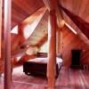 log home finished attic