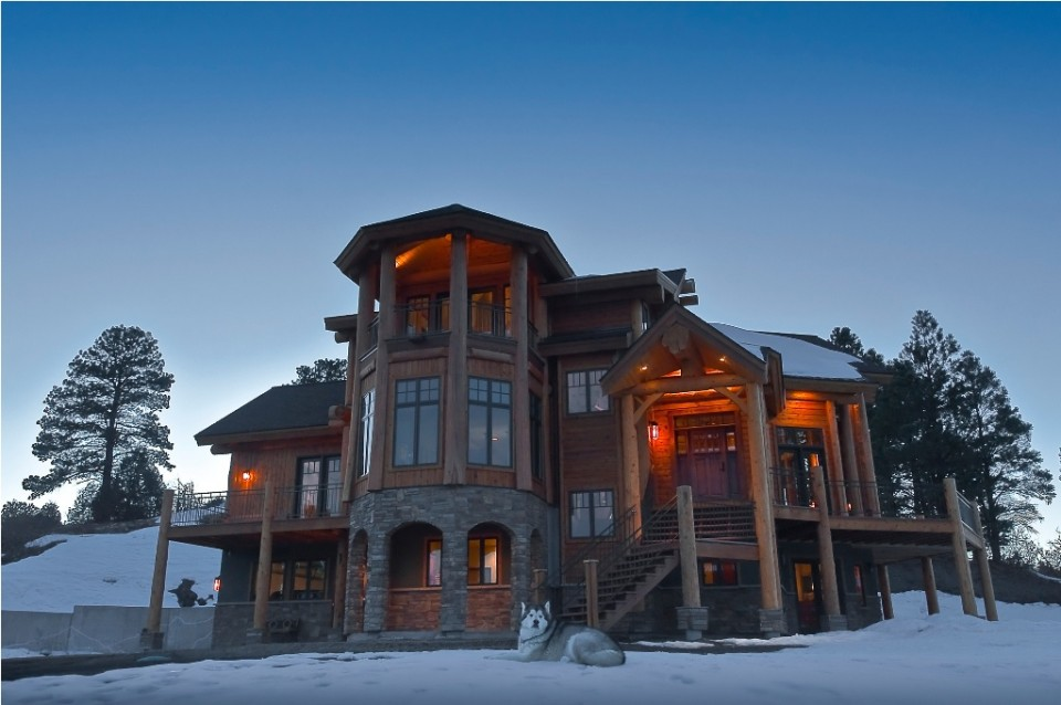 large timber frame home