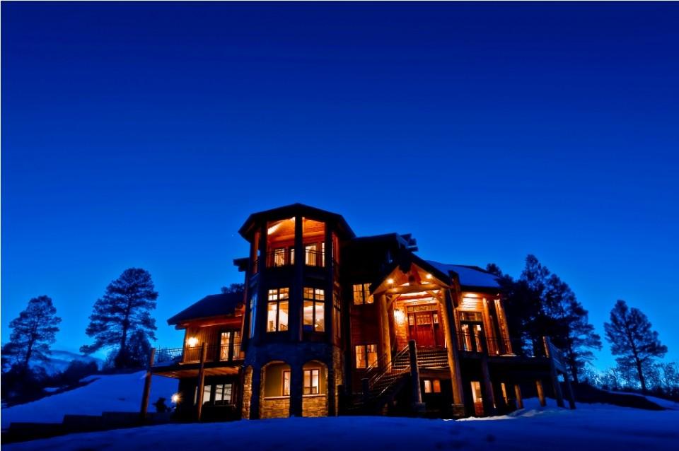 large luxury log cabin
