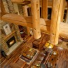 luxury log home living room