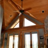 luxury timber frame home interior