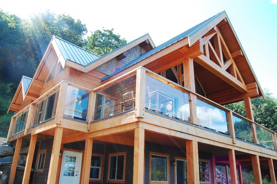 custom timber frame log home designs