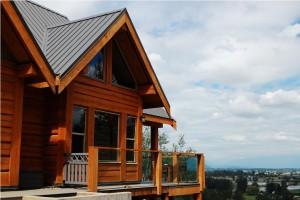 deck overlooking valley